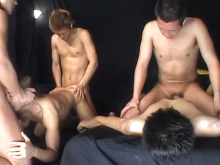 Horny Asian homosexual guys in Amazing twinks, dildos/toys JAV movie
