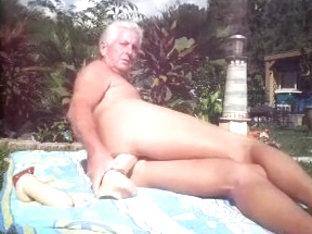 Lying around outdoors Fucking