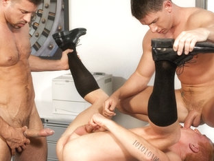 Blu Kennedy & Kyle King & Luke Marcum in Head Hunters 3 Scene