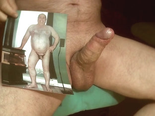 Tribute for a big fat pig - cum all over his body