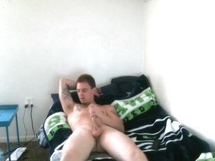 Str8 Army Tattoo Men Jerk In His Room More Gayboyca