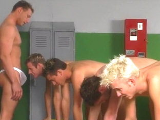 Horny Coach Checks Out His Young Students In The Locker Room