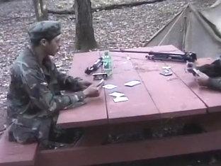 Latino Army Guys Have Oral At Boot Camp