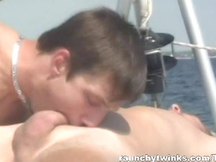RaunchyTwinks Video: Hot Gay Couple Make Out And Fuck