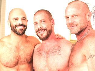 Rocco Steele, Chad Brock and Adam Russo - BarebackThatHole