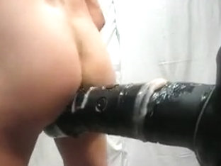 Fucking Session With My Homemade Adaptated Dildo I