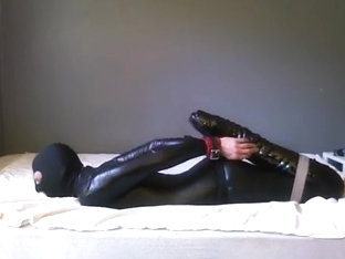 catsuit balletboot self bondage