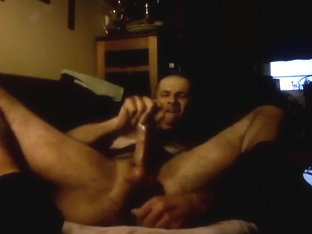 Cock and balls bondage_Jerking off_Cumshot_On the edge of orgasm