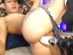 Sex machine for latina twink's ass free live on Cruisingcams com