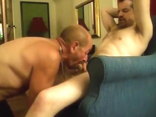 two whores servicing cock