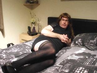 Crossdresser anal masturbation