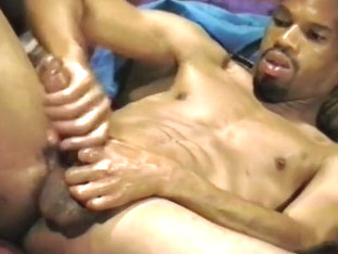 Toned Black Guy Jerks Off His Great Cock
