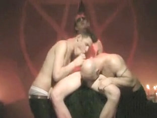 Horny male in fabulous big dick, group sex homosexual sex scene
