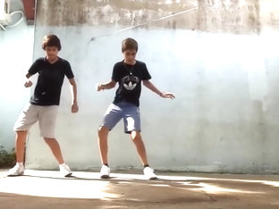Boys Dancing for Fun