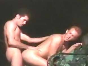 Gay college guys outdoors