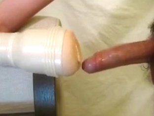 Fleshlight orgasm and creampie play