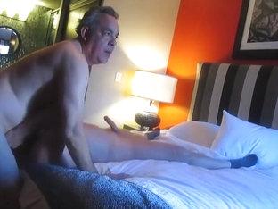 Handsome daddy fucks mature guy