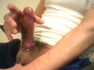 closeup cockout cockring cumspew