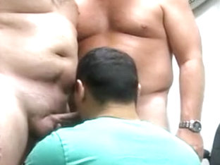 Amazing male in horny bears, uniform homosexual sex scene