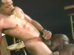 Two Black Studs Work Up A Sweat