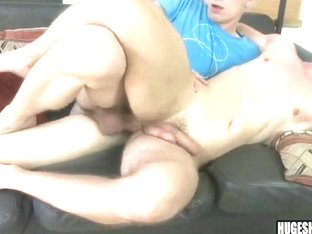 Bareback fucking a skinny pale ass with a big cock