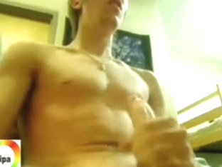 Twink cum spattered on sexy body