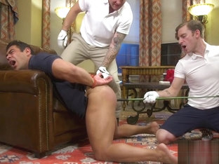 Nasty golf buddies dominate threeway sub