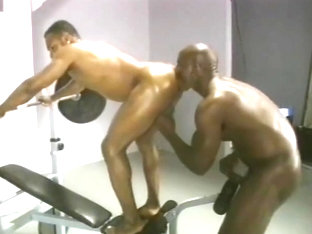 Black Hunks Bobby Blake and JC Carter in the Gym