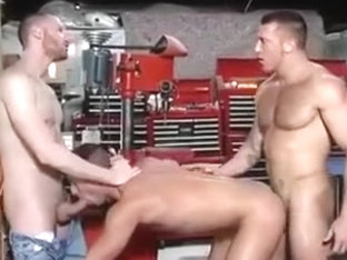 Three hot studs enjoy company of each other