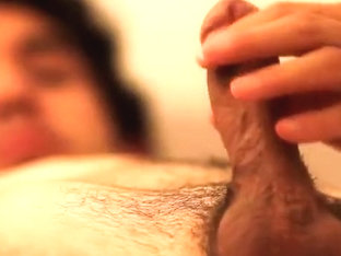 Closeup stroke and goo