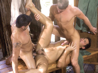 Big Wood XXX Video: Dominic Pacifico, Jayden Grey, Zac Blake