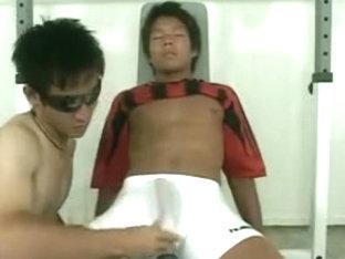 Japanese Swimmer Jerking