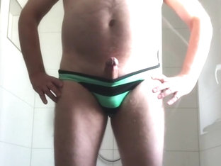 mature exhibitionist - in trunks again
