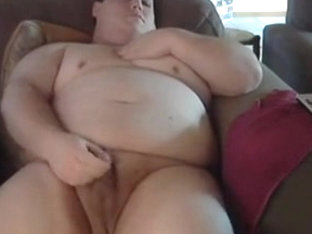 Fat man cum