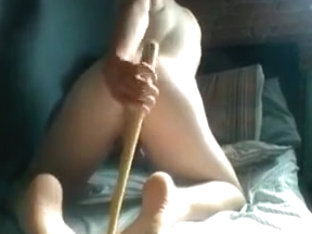 anal with a mini baseball bat and a chisel handle