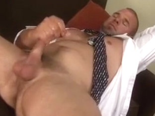 Horny Office Guy Stroking his Dick