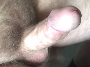 erection and precum closeup