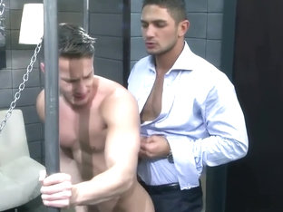 HOT Arab Fucks Delivery guy in sling