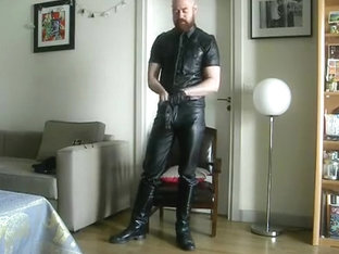 Leather Cop Leathers Up