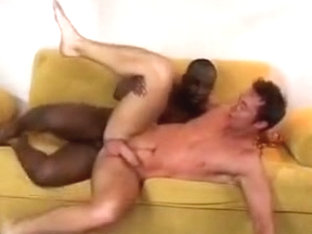 Nasty black guy with a big dick loves his white boyfriend