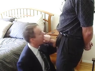 Business fella serves his boss