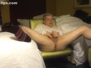 Hotel room bate in socks