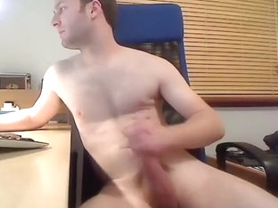 Cute gay is frigging in the bedroom and memorializing himself on webcam