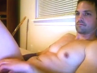 Hot fagot is frigging within doors and memorializing himself on webcam
