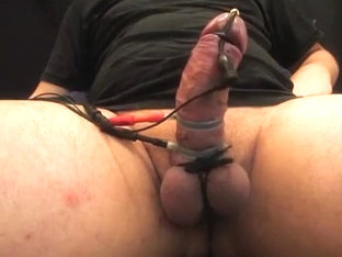 estim/cbt - stimming my ding-dong and squeezing my balls