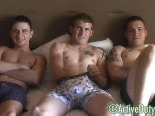 Brock, Bryce & Nick Military Porn Video