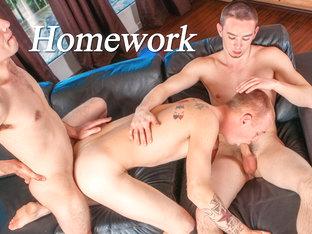 Joey Devero & Trent Jackson & Steven Wild in Homework XXX Video