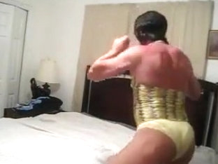 Muscled cock sitter