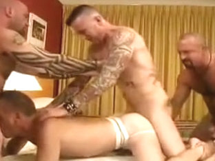 Crazy male in fabulous bareback gay sex clip