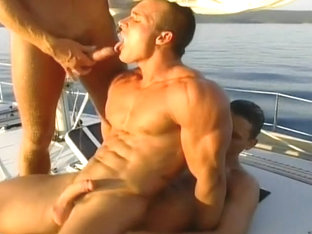 Hardcore Deep Gay Double Anal On A Yacht